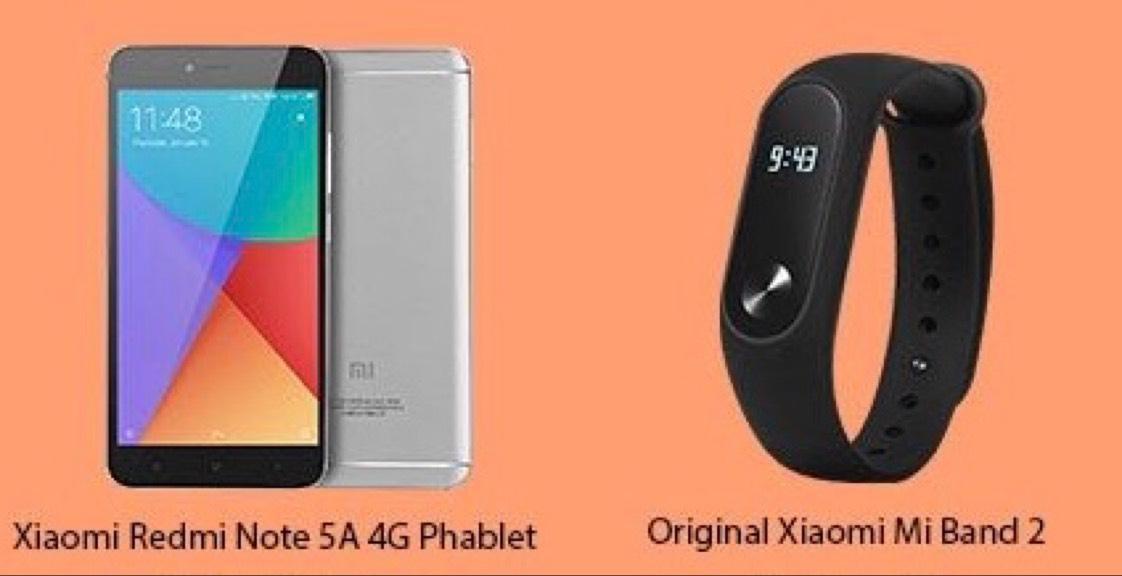 [GearBest] Xiaomi Redmi Note 5A B20 LTE 2GBRAM 16GBROM + Mi Band 2 Smartband 82,40€