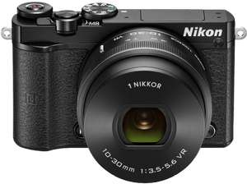 NIKON 1 J5 schwarz mit Objektiv VR 10-30mm 3.5-5.6 PD-Zoom für 333€ [mediamarkt.at]