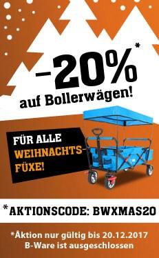 Fuxtec 20% auf alle Bollerwagen z.B. FX-CT700 für 119,20€ anstatt 149€