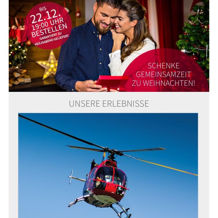 20% Weihnachtsrabatt bei mydays! Schenke Gemeinsamzeit zum Fest!