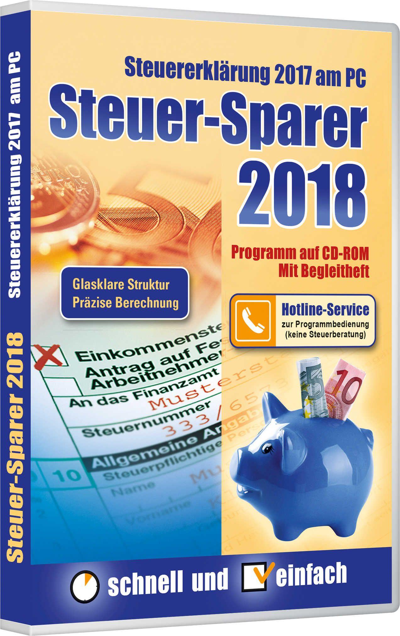 Steuer-Sparer 2018 bei Kaufland 4,99€ für Steuererklärung 2017 ab Do 21.12.