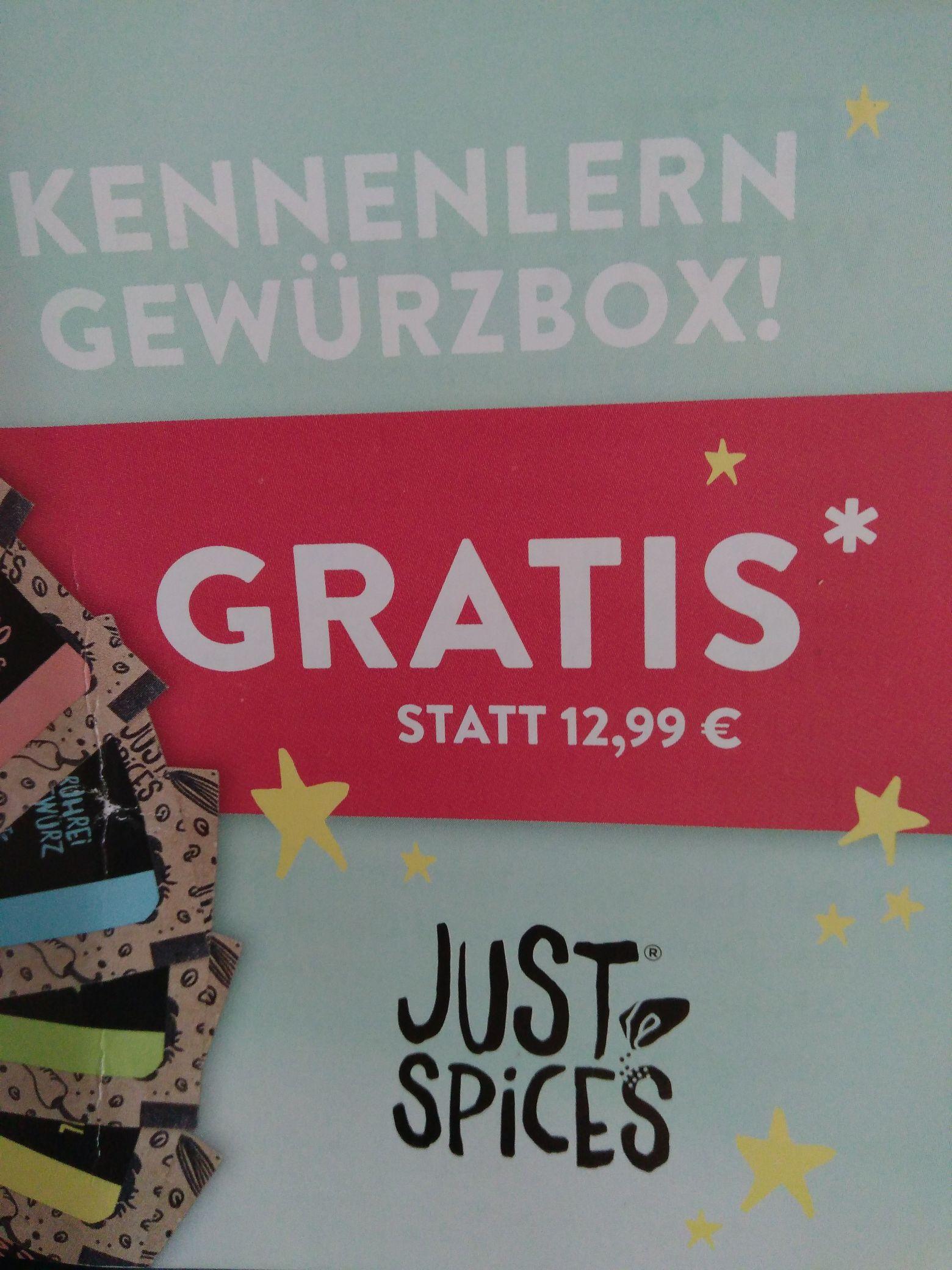 """Justspices -  """"Kennenlern Gewürzbox"""" Bonus ab 8€ MBW"""