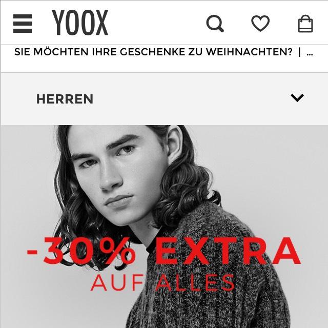 30% auf alles bei Yoox