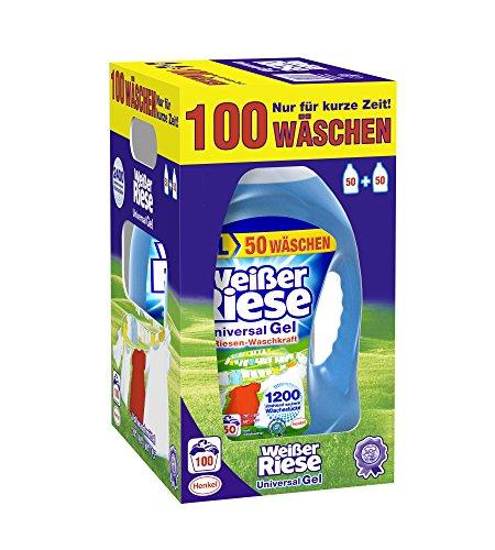 Weißer Riese Universal Gel 100 Waschladungen[Amazon Spar-Abo 15%]+[Spar-Abo 15% Sammel-Deal - Haushaltsartikel]