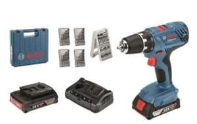 Bosch Professional Akku-Bohrschrauber 18 Volt + 53-tlg. Zubehör-Set