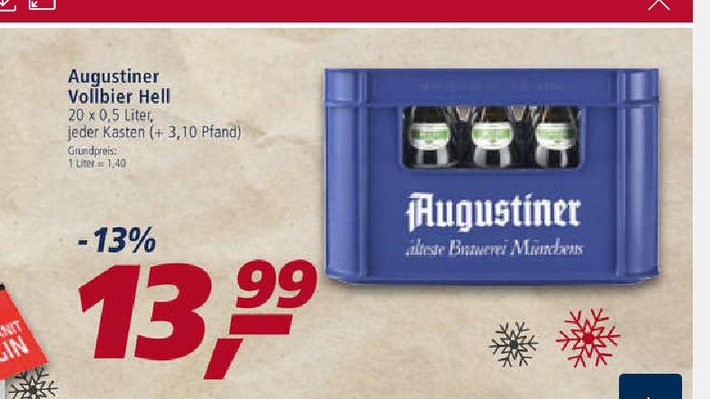 [LOKAL] Regensburg REAL - Augustiner Bier 13.99 €