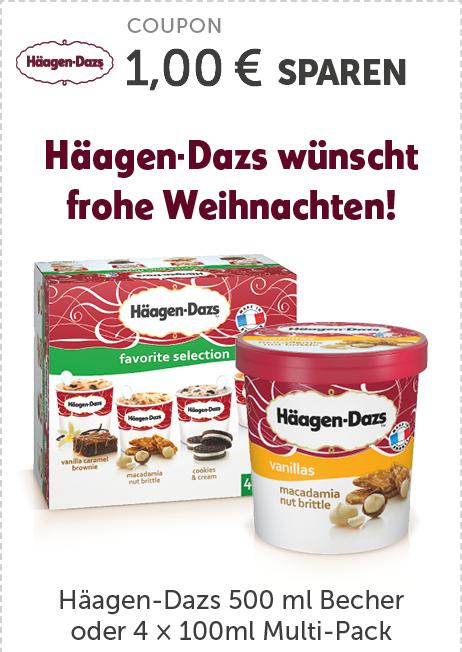 Häagen-Dazs Eiscreme (500ml oder 4x100ml) mit Coupon bei REWE