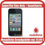 iPhone 4 inklusive Vodafone Vertrag für junge Leute (Flat zu VF + Festnetz, optional Internetflat)  - Gesamtkosten 598,80 Euro