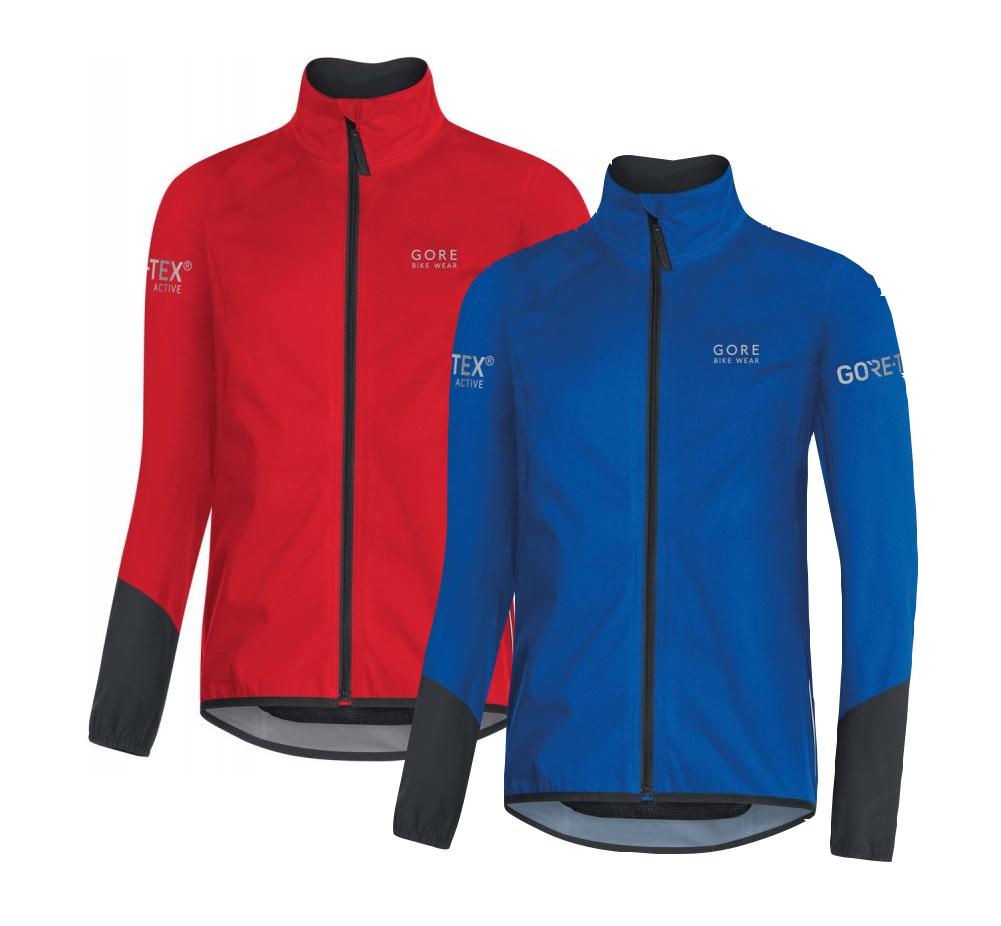 Gore Bike Wear Power Gore-Tex Jacke in red/black und brilliant blue/black bei bike-components.de