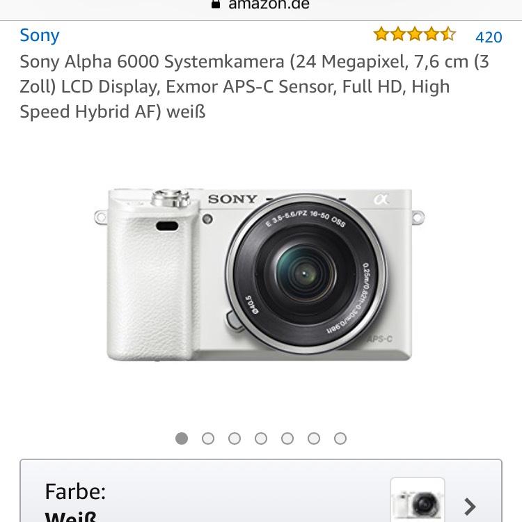 Sony Alpha 6000 weiß mit Kit 16-50mm
