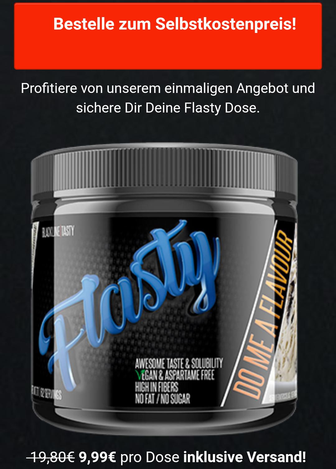 Blacklinetwo #sinob Flasty Geschmackspulver zum Selbstkostenpreis! 9,99 € statt 19,80 € inkl. Versand!
