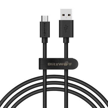 BlitzWolf Micro-USB Daten-/Ladekabel, 1 m, mit Klettband @Banggood