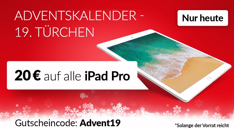 -20€ auf iPad Pro bei asgoodasnew, Code: Advent19