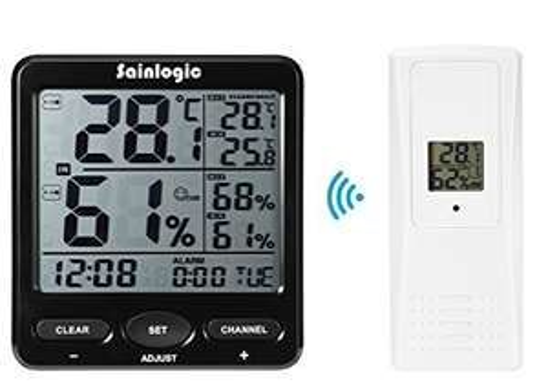Amazon: Sainlogic digitale Funk-Wetterstation mit Innen/Außensensoren für 19,59 € statt 27,99 €