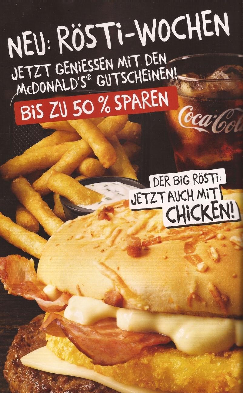 [McDonald's] Neue Gutscheine ab 08.01. ***u.a. Big Rösti Chicken***