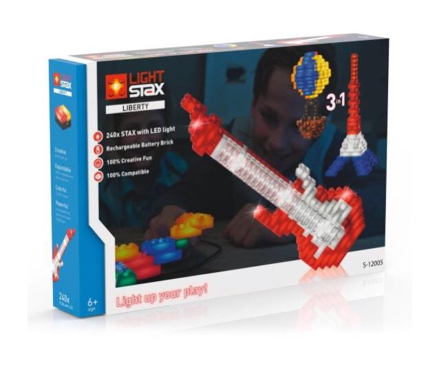 LIGHT STAX Liberty - Leuchtende Bausteine mit Lego kompatibel