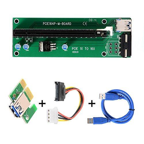 """PCI-E Riser Karte, 1X bis 16X (Mining) [amazon] plus Shop Angebot: """"1 von 3 gekauften Artikeln ist kostenlos """""""