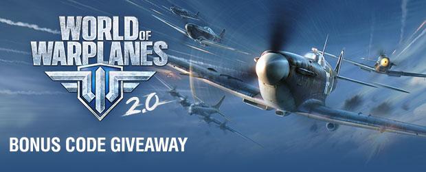 World of Warplanes 2.0: Free Premium Planes Code Giveaway (North America Only)
