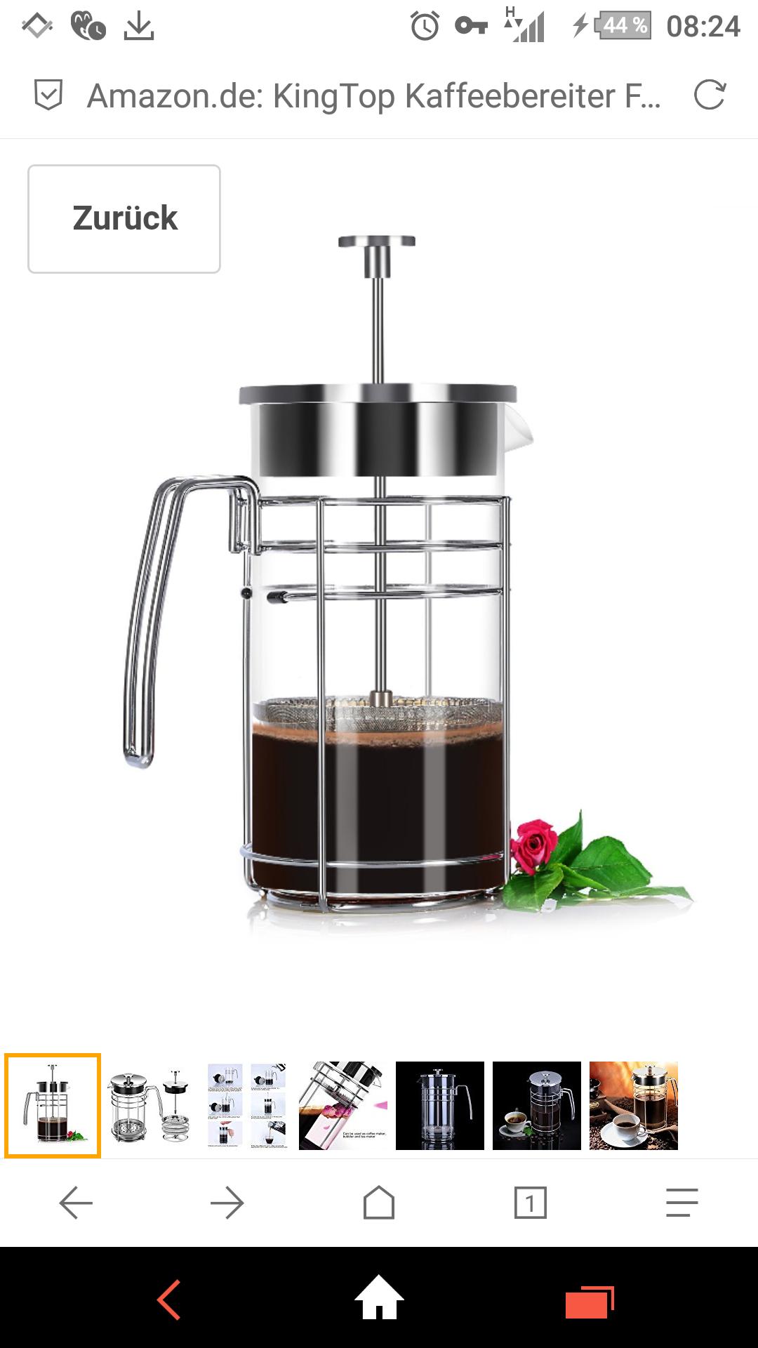 KingTop Kaffeebereiter 1L (-40% Preisnachlass) [Amazon]