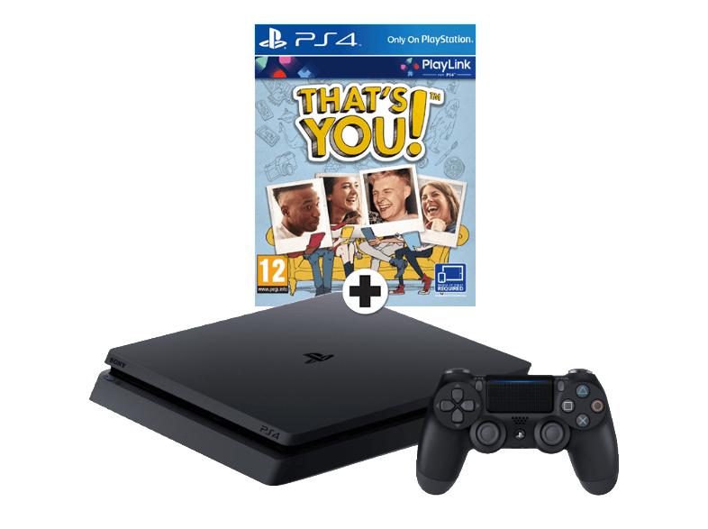 (Media Markt Niederlande) Sony PlayStation 4 (PS4) Slim 500 GB Weiss oder Schwarz + That's You