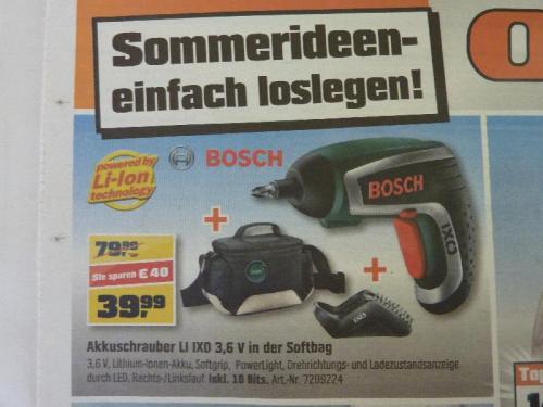 [Regional München und Umgebung] Bosch IXO IV inkl. Zubehör und Softbag 39,99
