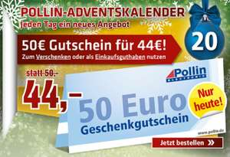 Pollin 50€ Gutschein für 44€