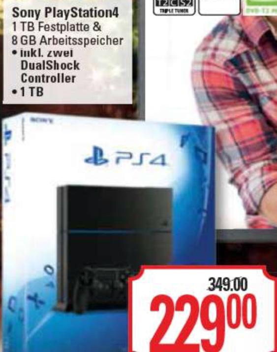 (Marktkauf Burg) PlayStation 4 (PS4) 1TB schwarz inkl. 2.DualShock Controller