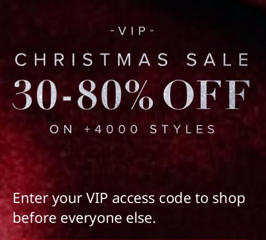 VIP Christmas Sale bei na-kd