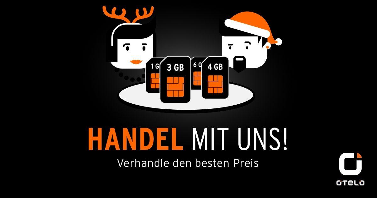 Otelo (D-Netz) Mobilfunk 25% billiger z.b. All-Net-Flat+SMS-Flat+ 4GB Daten 14,99