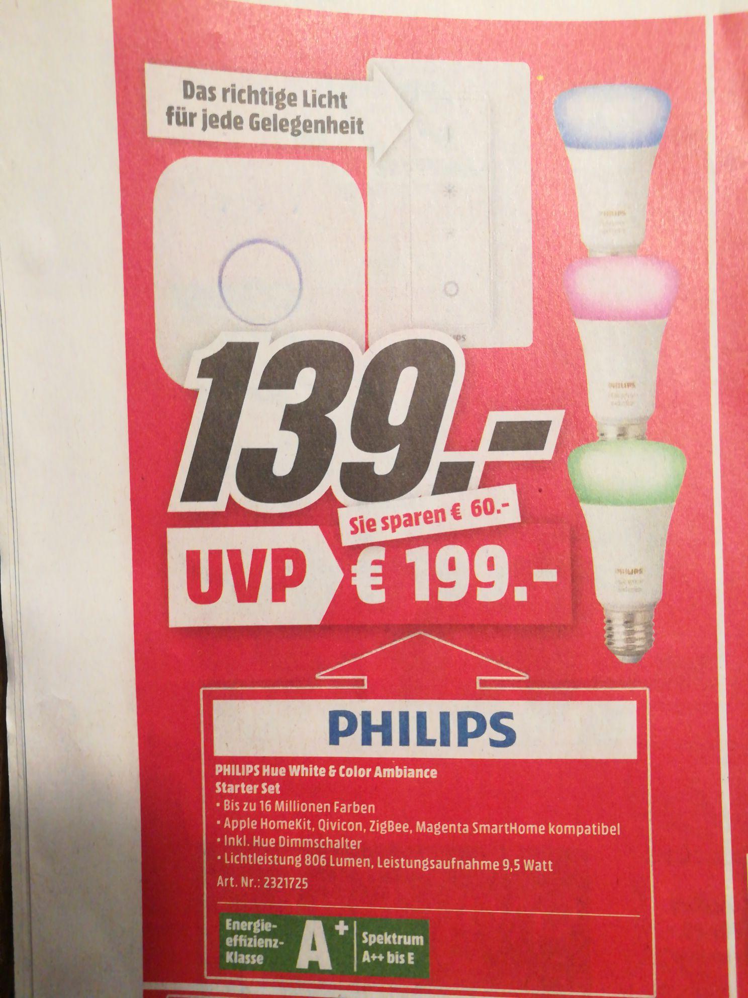 [lokal] Philips Hue White and Color Ambiance Starter Kit E27 + Schalter