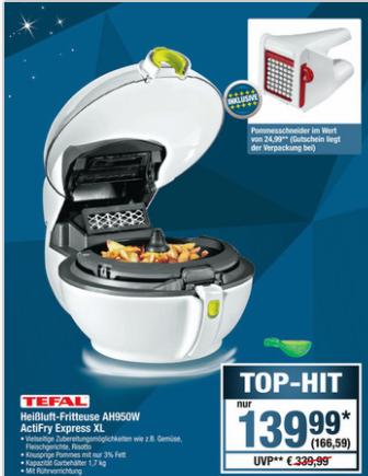 [METRO] Tefal ActiFry Express XL (AH950W) + Tefal Pommes-/Gemüse Schneider (ab 27.12.)