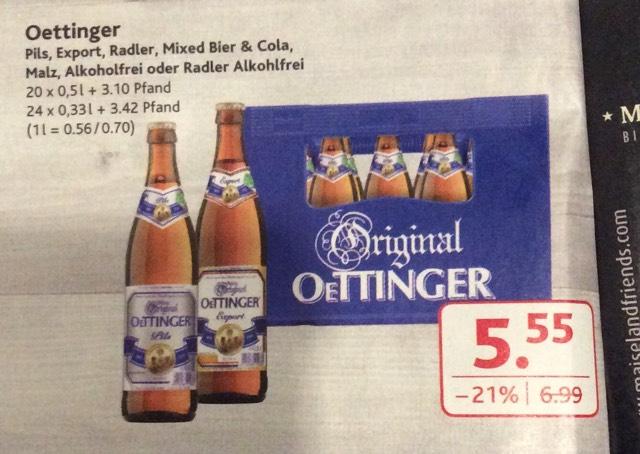 (Dursty) Kasten Oettinger verschiedene Sorten für 5,55€