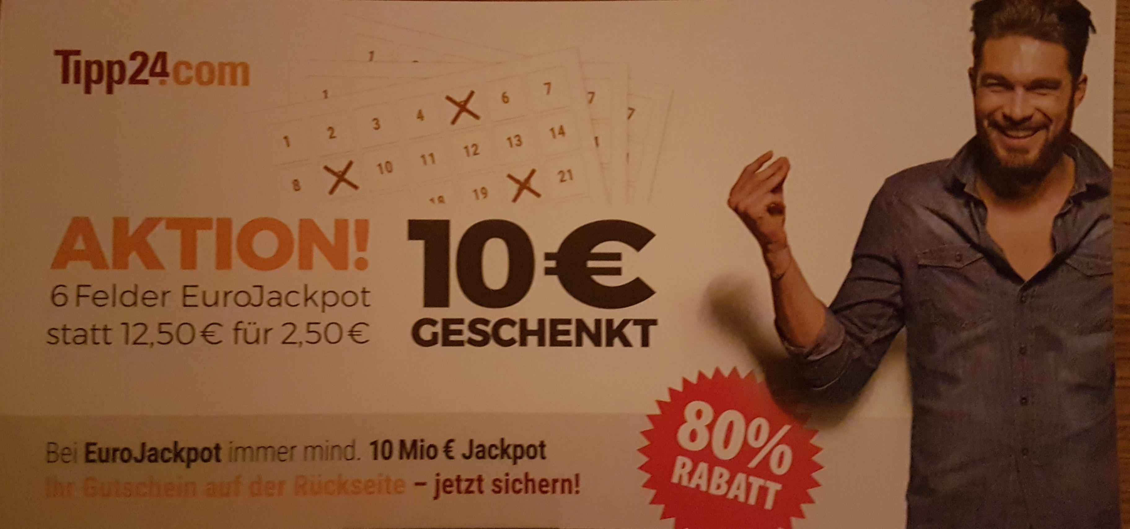 Neukunden 6 Felder Eurojackpot für 2,50€