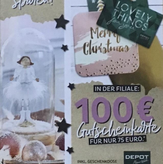 [Depot] 100€ Gutschein für nur 75€, nur am 22.12.