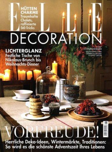ELLE Decoration Magazin für 1 Jahr (6 Ausgaben) für 36€ mit 35€ Verrechnungsscheck