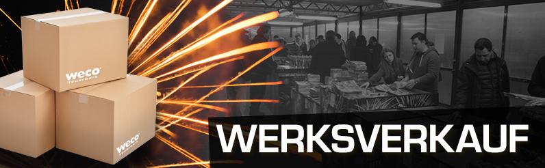 [lokal Weco Eitorf und Kiel] Feuerwerk Werksverkauf mit Überrschungskisten für 30€ und 50€