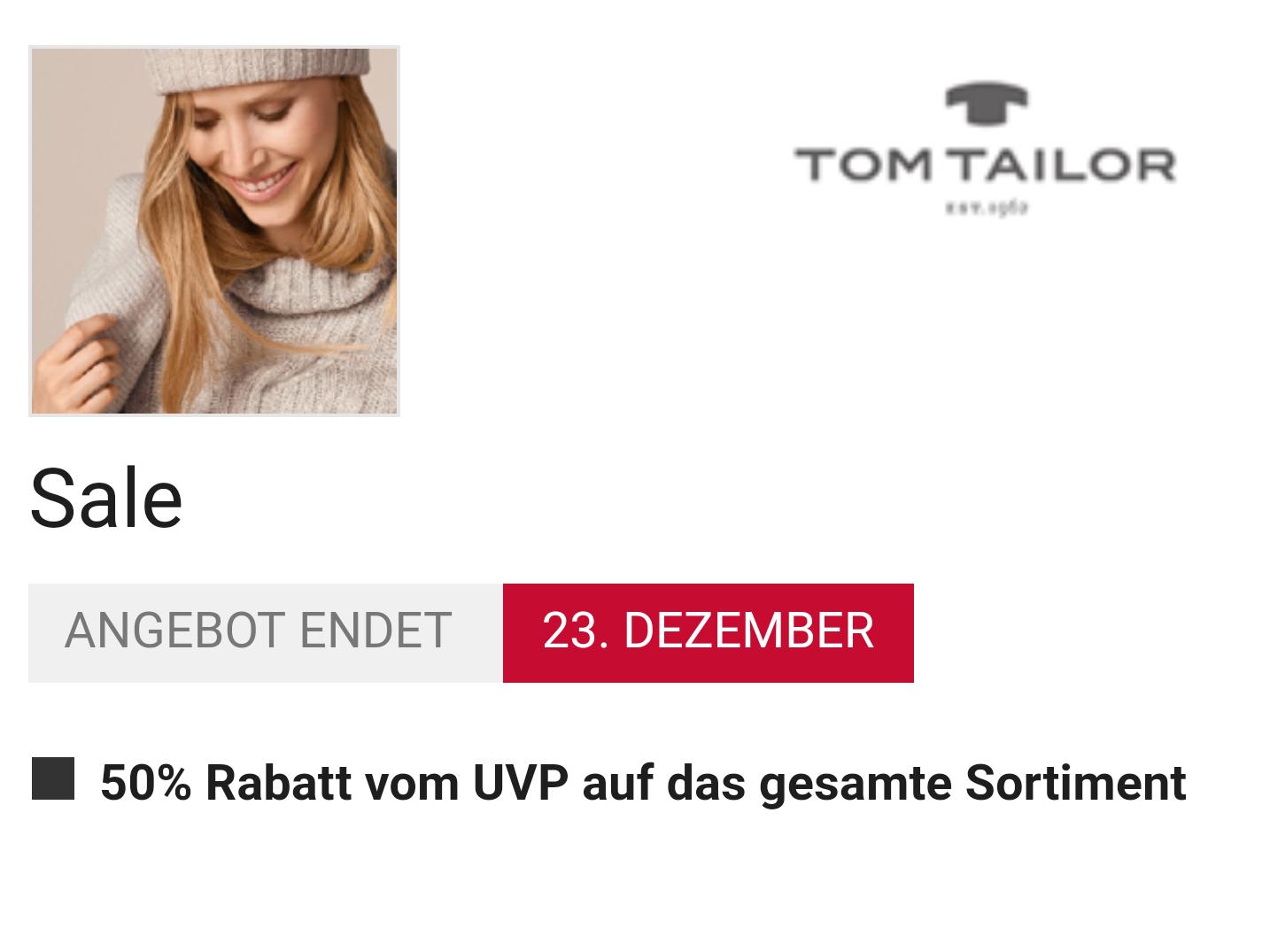 [Lokal/Ochtrup] Tom Tailor 50% Rabatt vom UVP (Gesamtes Sortiment)