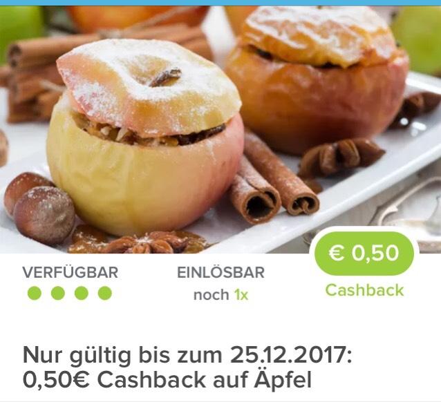 [ Marktguru]                                       0,50€ Cashback beim Kauf von Äpfeln