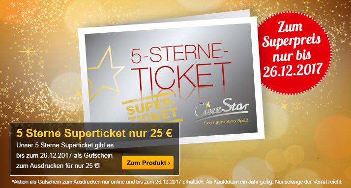 CineStar Superticket für kurze Zeit verfügbar!