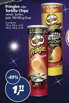 Pringles bei Real für 1,11€