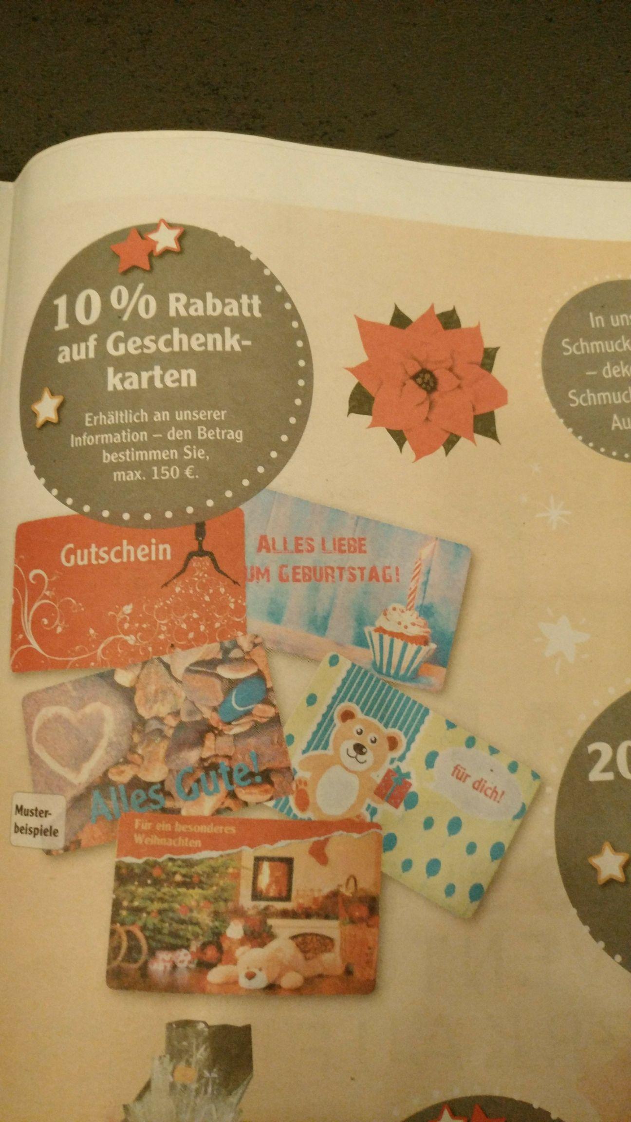 Globus Forchheim 10% Rabatt auf Geschenkgutscheine