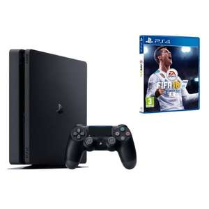 Sony PlayStation 4 slim / PS4 Slim 1TB inkl. Fifa 18 (Ronaldo Edition) (PS4) Jet-Black