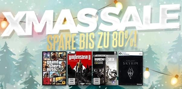 Bis zu 80% Rabatt im Gamesrocket XMAS SALE (u.a. Wolfenstein II: The New Colossus German Edition 26,95 €)