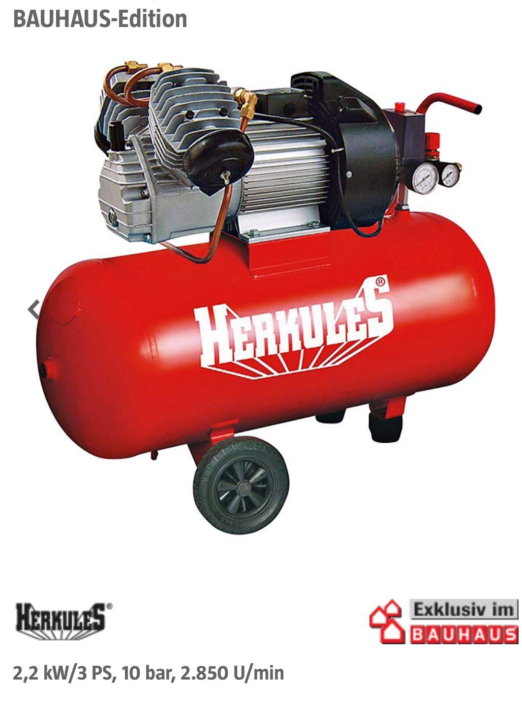 Herkules Kompressor 3 PS / 10 Bar für 149 EUR