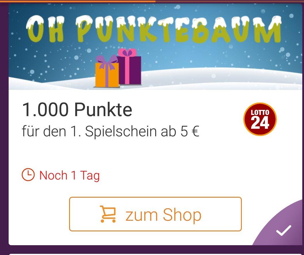 [Lotto24.de] Über die DeutschlandCard App 1000 Punkte erhalten ab nur 5€ Einsatz ( gilt nur für Neukunden)