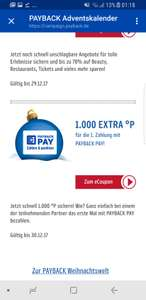 1.000 PAYBACK Punkte (10€) Gratis bei Bezahlung mit PAYBACK PAY