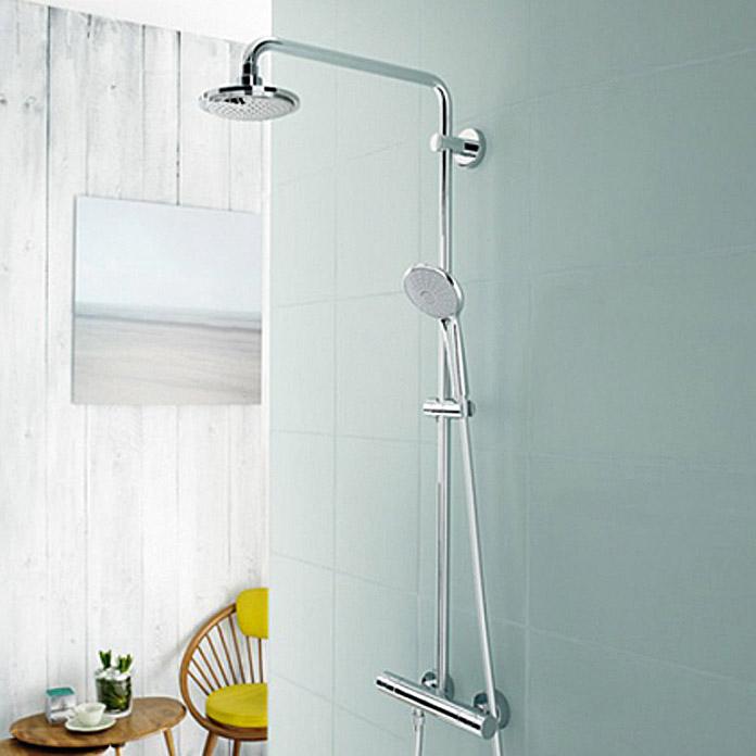 [Bauhaus] Grohe Duschsystem Euphoria 27296001 (Mit Thermostatarmatur, Lochabstand: 101,1 cm, Verchromt)