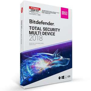 Bitdefender Total Security Multi Device 2018 – 5 Geräte | 1 Jahre (MAC, Windows & Android)