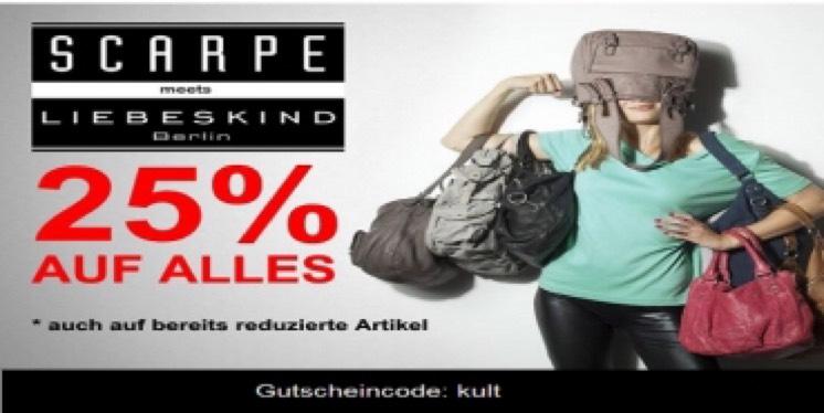 25% auf alle Liebeskind Artikel - auch auf Sale