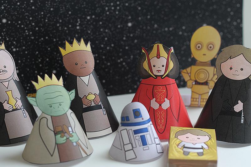 Star Wars Krippenspiel - kostenlos zum Ausdrucken